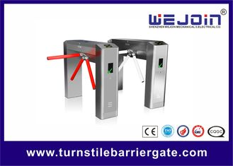 Portable electric Subway Tripod Turnstile Gate For Improve Working Productivity