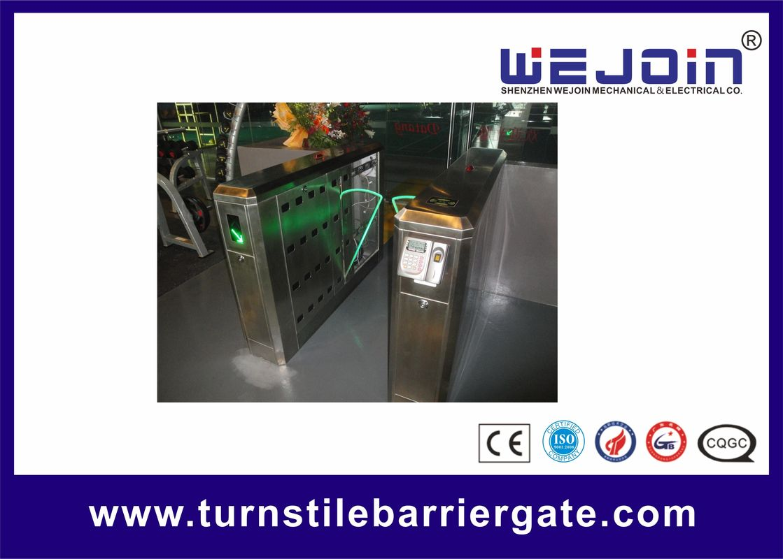 900mm Security Flap Barrier Turnstile Entry Systems Bi - direction In Aluminum Alloy ผู้ผลิต