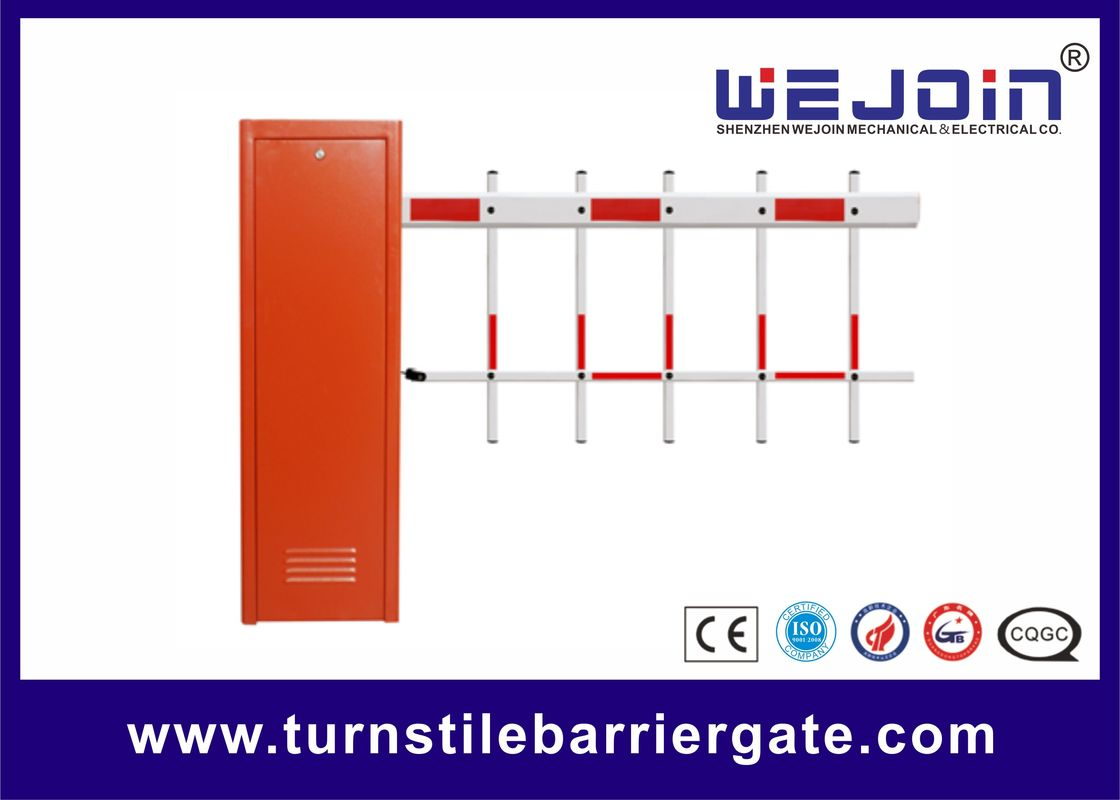 Magnetic Automation Parking Boom Barrier , Fence Remote Control Barrier Gate