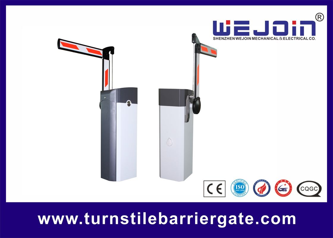 IP44 Automatic Boom Barrier System , Parking Lot Barrier Gate 3/6 Second Speed