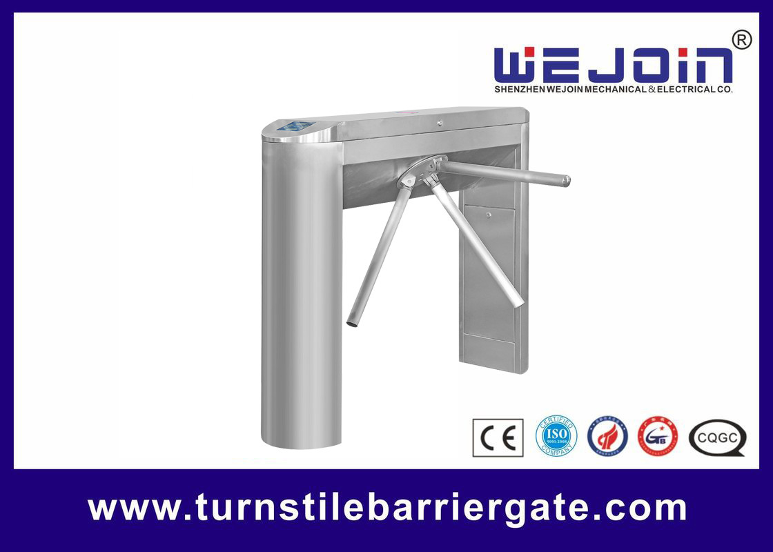 Waist High Pedestrian Access Control Turnstile Gate 304 Stainless Steel 50W
